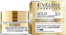 Parfumuri și produse cosmetice Cremă ser de netezire pentru noapte/zi - Eveline Cosmetics Gold Revita Expert 30+