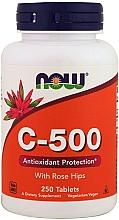 Parfumuri și produse cosmetice Vitamina C-500, capsule - Now Foods C-500 With Rose Hips Tablets