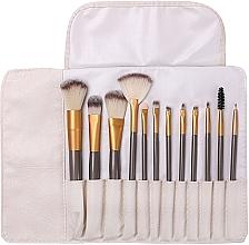 Parfumuri și produse cosmetice Set pensule pentru machiaj, 12 bucăți - Lewer