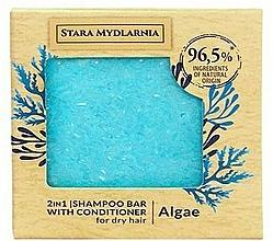 "Parfumuri și produse cosmetice Șampon-balsam solid ""Alge"" - Stara Mydlarnia Algae 2in1 Shampoo Bar"