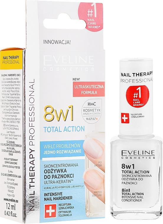 Întăritor pentru unghii 8 în 1 - Eveline Cosmetics Nail Therapy Total Action 8 in 1