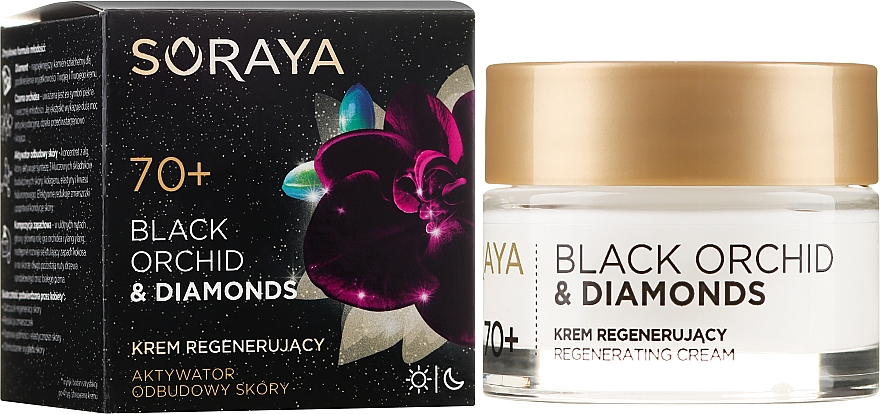 Cremă de față - Soraya Black Orchid & Diamonds 70+ Regenerating Cream