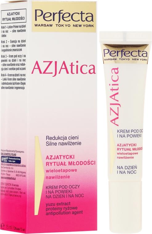 Cremă pentru zona ochilor - Dax Cosmetics Perfecta Azjatica White Eye Cream — Imagine N1