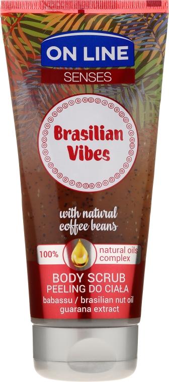 Scrub pentru corp - On Line Senses Body Scrub Brasilian Vibes