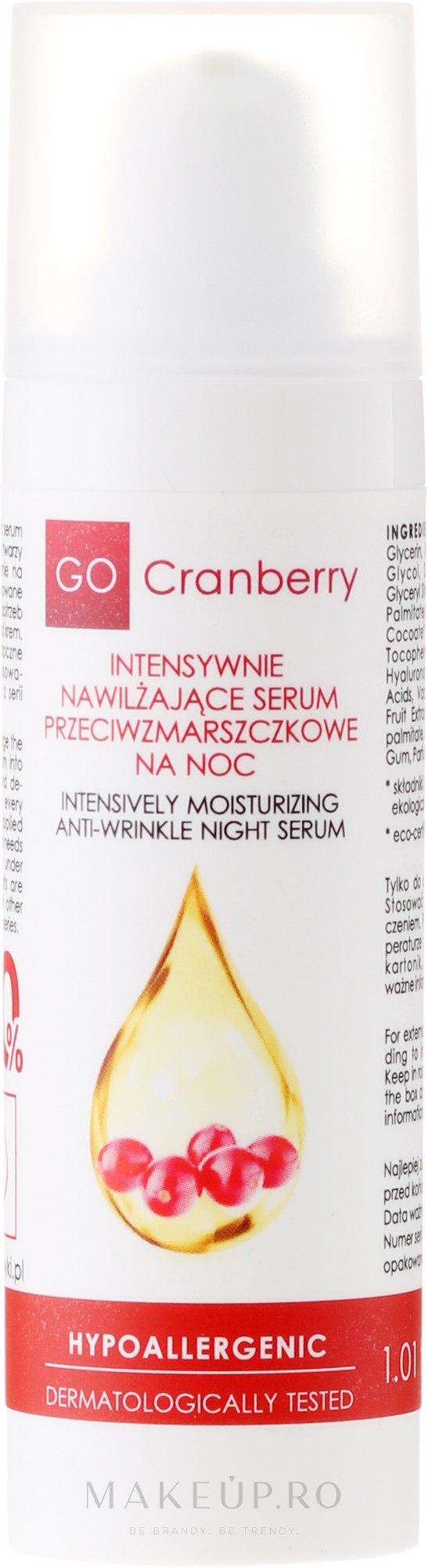 Ser hidratant antirid de noapte - GoCranberry Anti-Wrinkle Night Serum — Imagine 30 ml