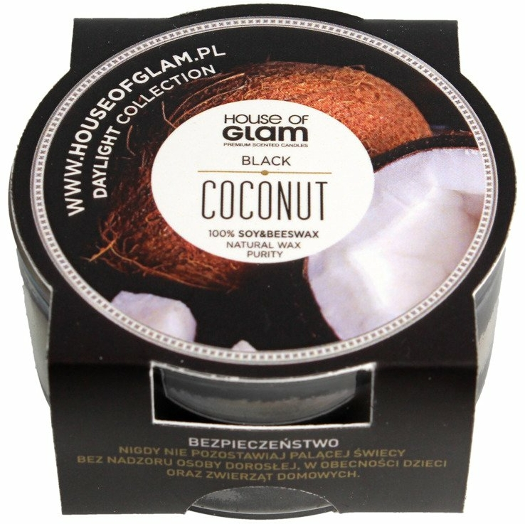 Lumânare aromată - House of Glam Black Coconut Candle (mini)