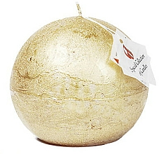 Parfumuri și produse cosmetice Lumânare naturală, bilă, 10 cm - Ringa Golden Glow Candle