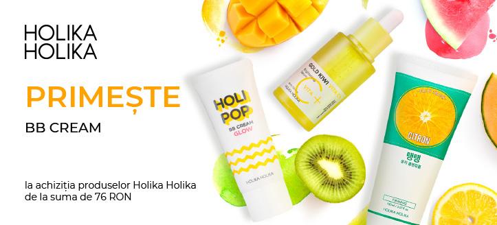 La achiziția produselor Holika Holika de la suma de 76 RON primești în dar BB cream
