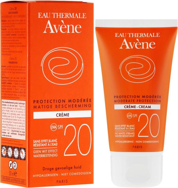 Cremă de protecție solară pentru corp - Avene Solaires Moderate Protection Cream SPF 20 — Imagine N1