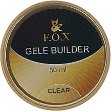 Gel de unghii, transparent - F.O.X Gele Builder UV Clear — Imagine N1