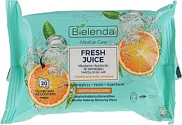 "Parfumuri și produse cosmetice Șervețele micelare demachiante ""Orange"" - Bielenda Fresh Juice Micelar Make-up Removing Wipes"