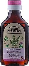 Parfumuri și produse cosmetice Ulei de brusture cu extract de coada calului împotriva căderii părului - Green Pharmacy