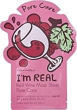 Parfumuri și produse cosmetice Mască cosmetică din hârtie pentru față - Tony Moly I'm Real Red Wine Mask Sheet