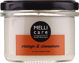 """Parfumuri și produse cosmetice Lumânare aromatică """"Portocală și Scorțișoară"""" - Melli Care Orange & Cinnamon Soy Wax Scented Candle"""