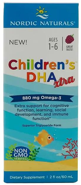 "Supliment alimentar pentru copii, struguri 880 mg ""Omega-3"" - Nordic Naturals Children's DHA Xtra"