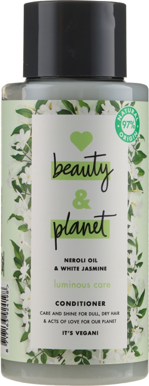 """Balsam de păr """"Ulei de Neroli și Iasomie Albă"""" - Love Beauty&Planet Neroli Oil & White Jasmine Conditioner — Imagine N1"""