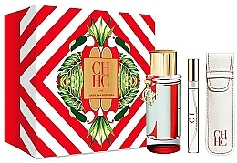 Parfumuri și produse cosmetice Carolina Herrera CH L`Eau - Set (edt/100ml + edt/10ml+travel/case)