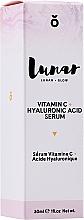 Parfumuri și produse cosmetice Ser cu acid hialuronic pentru față - Lunar Glow Vitamin C Hyaluronic Acid Serum