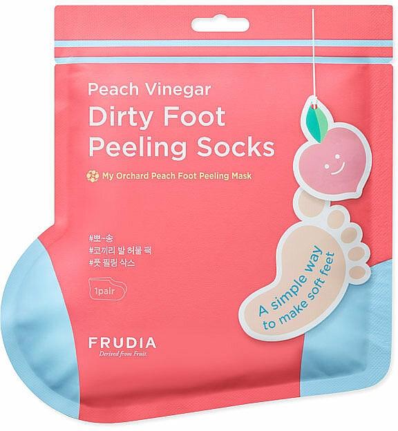 Mască-șosete pentru pedichiură, aromă de piersică - Frudia My Orchard Foot Peeling Mask — Imagine N1