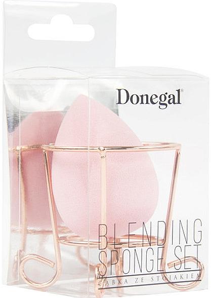 Burete de machiaj, cu suport, roz - Donegal