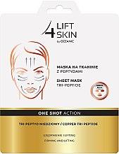 Parfumuri și produse cosmetice Mască cu peptide pentru față - Lift4Skin Sheet-Mask Copper Tri-Peptide