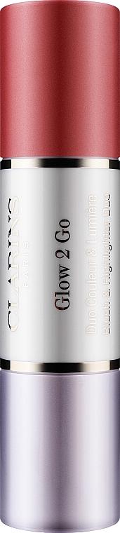 Fard de obraz și iluminator, stick dublu - Clarins Glow 2 Go Blush Highlighter — Imagine N1