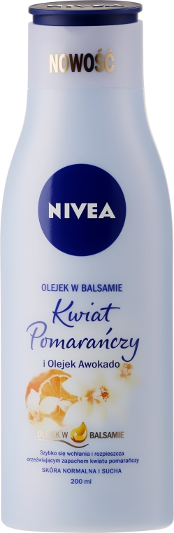 "Loțiune de corp ""Floare de portocal și ulei de avocado"" - Nivea Sensual Body Lotion Orange Blossom & Avocado Oil — Imagine N1"