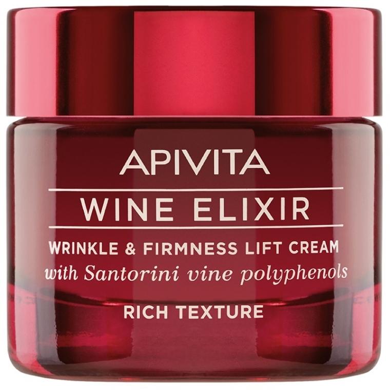 Cremă-lifting antirid cu polifenoli de Vin Santorini - Apivita Wine Elixir Wrinkle And Firmness Lift Cream Rich Texture