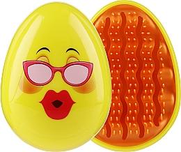 Parfumuri și produse cosmetice Perie de păr 3002W, smiley cu ochelari - IDC Institute Design Smile Brush