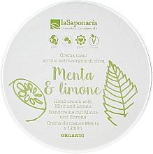 """Parfumuri și produse cosmetice Cremă de mâini """"Mentă ți lămâie"""" - La Saponaria Hand Cream Mint and Lemon"""