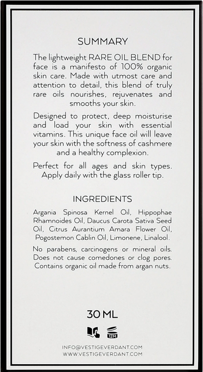 Ulei de față - Vestige Verdant Rare Oil Blend — Imagine N3