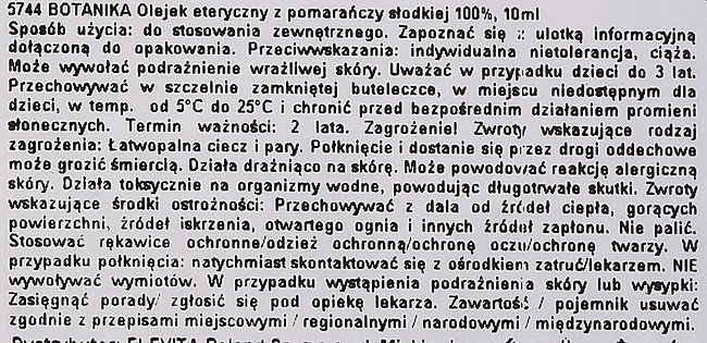 "Ulei esențial ""Portocală"" - Botavikos Orange Sweet Essential Oil — Imagine N4"