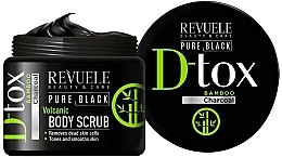 Parfumuri și produse cosmetice Scrub pentru corp - Revuele Pure Black Detox Volcanic Body Scrub