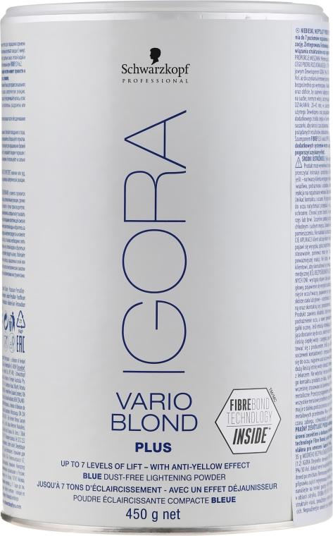 Pudră decolorantă pentru păr - Schwarzkopf Professional Igora Vario Blond Plus