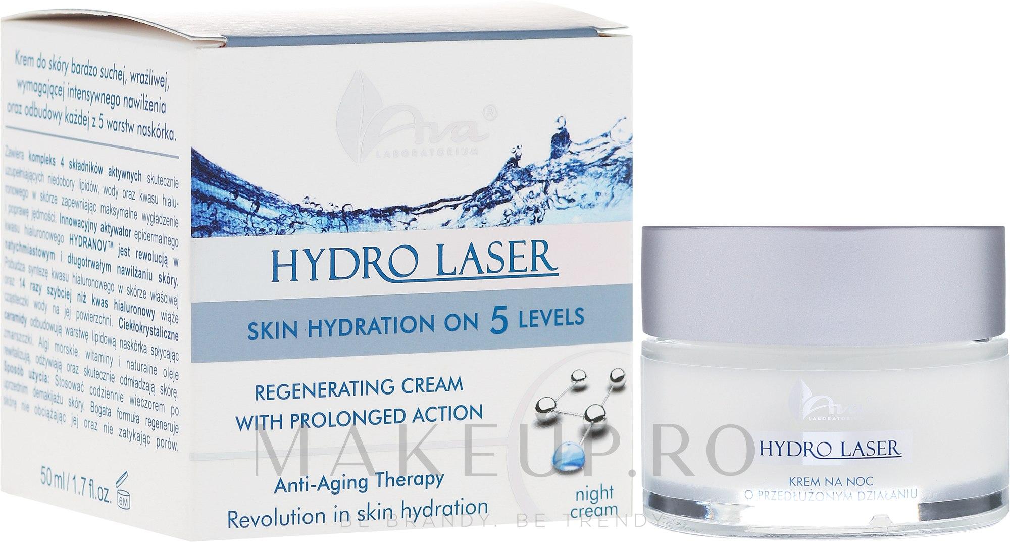 Cremă regenerantă de noapte - Ava Laboratorium Hydro Laser Cream — Imagine 50 ml