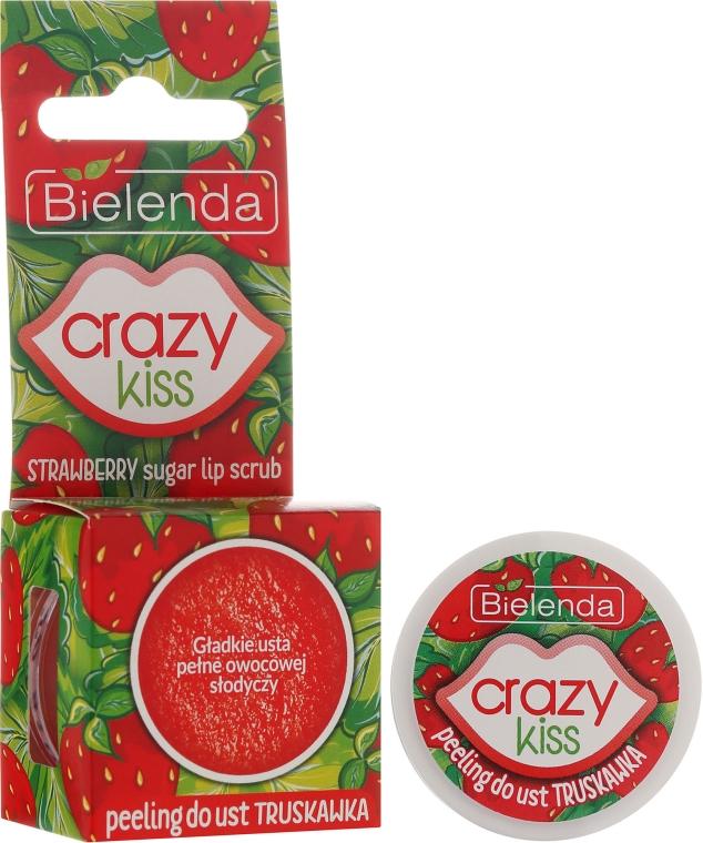 "Peeling de buze ""Căpșuni"" - Bielenda Crazy Kiss Strawberry Sugar Lip Scrub — Imagine N1"