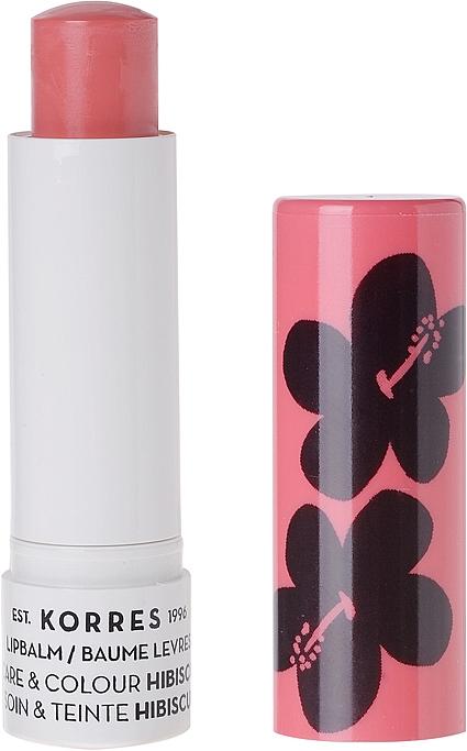 "Balsam de buze ""Hibiscus"" - Korres Lip Care & Colour Stick Hibiscus — Imagine N1"