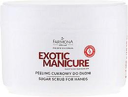 Parfumuri și produse cosmetice Peeling de zahăr pentru mâini - Farmona Egzotic Manicure Scrub
