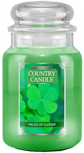 Lumânare aromată (borcan) - Country Candle Fields Of Clover — Imagine N1