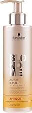 """Parfumuri și produse cosmetice Șampon fără sulfați """"Caise"""" - Schwarzkopf Professional Blond Me Blush Wash Apricot"""