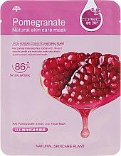 """Parfumuri și produse cosmetice Mască de țesut pentru față """"Granat"""" - Rorec Natural Skin Pomegranate Mask"""