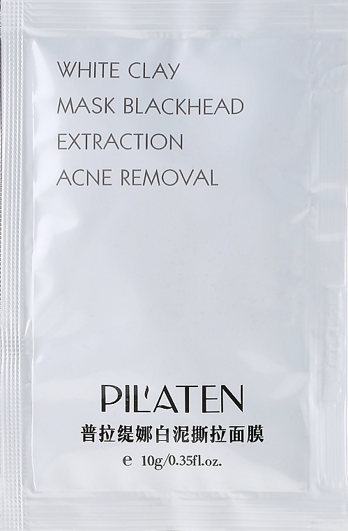 "Mască de față ""Argilă albă"" - Pil'Aten White Clay Mask Blackhead Extraction Acne Removal (mostră)"
