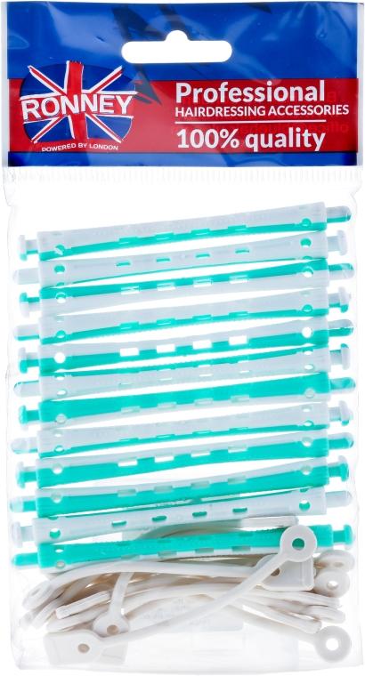 Bigudiuri pentru permanent 6/91 mm, alb-verde - Ronney Professional