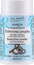 Parfumuri și produse cosmetice Pudră protectoare cu ulei de eucalipt și mentol pentru picioare și încălțăminte - Marion Dr Koala Protective Powder