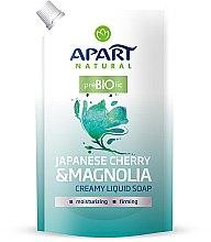 "Parfumuri și produse cosmetice Săpun lichid ""Cireș japonez și magnolie"" - Apart Natural Japanese Cherry & Magnolia Soap (doypack)"