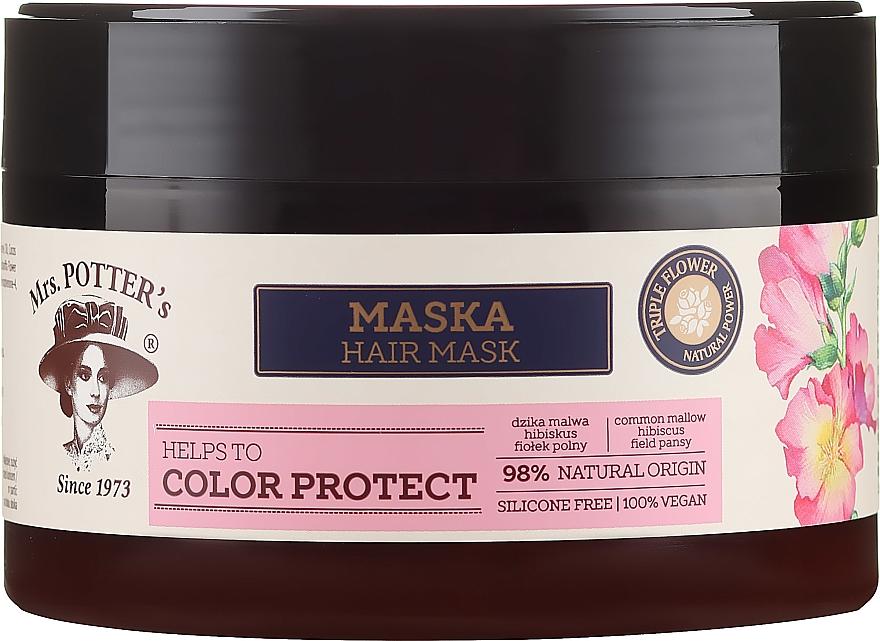 Mască pentru păr vopsit - Mrs. Potter's Triple Flower Color Protect