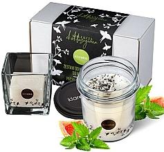 """Parfumuri și produse cosmetice Set """"Mentă"""" - Klareko (candle/200g + soap)"""