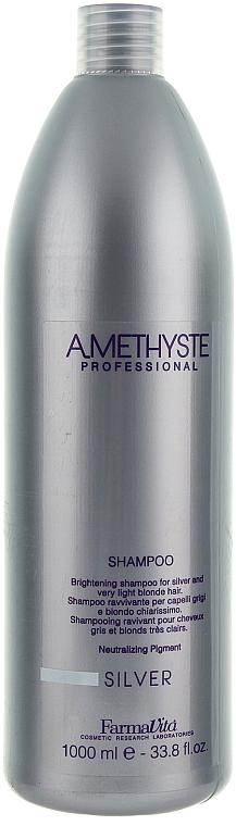 Șampon pentru păr blond - Farmavita Amethyste Silver Shampoo — Imagine N2