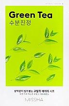 Parfumuri și produse cosmetice Mască cu extract de ceai verde pentru față - Missha Airy Fit Green Tea Sheet Mask