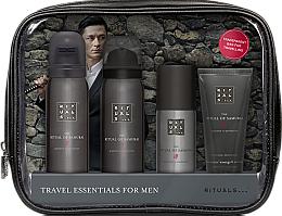 Parfumuri și produse cosmetice Set - Rituals The Ritual of Samurai Essentials Travel Set (foam/gel/50ml + sh/foam/50ml + cr/30ml + deo/50ml + bag)